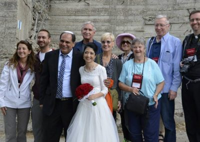 Wedding in Jerusalem abd select pilgrims